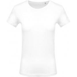 T-Shirt col rond manches courtes femme - Blanc