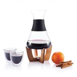 Set pour vin chaud avec verres Glu