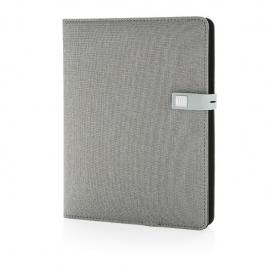 Housse à carnet de notes A5 avec powerbank et clé USB Kyoto