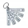Mini règle pliable porte-clés