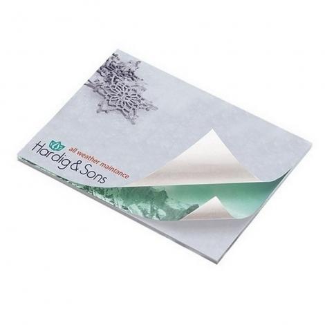BIC® 101 mm x 75 mm Alternating Sheet Imprint 25 Sheet Adhesive Notepad