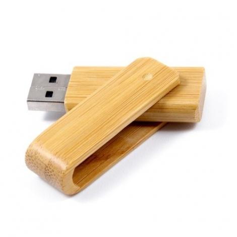 Clé USB pivotante bambou