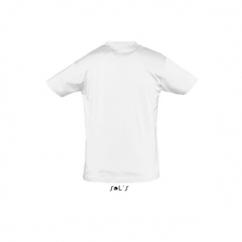 Tee-shirt unisexe col rond - REGENT - Blanc