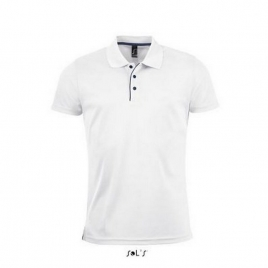 Polo sport homme  PERFORMER MEN - blanc