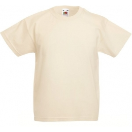 T-shirt manches courtes enfant blanc Fruit of the Loom