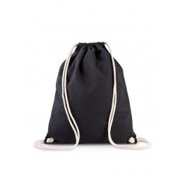 Sac à dos en coton bio avec cordelettes