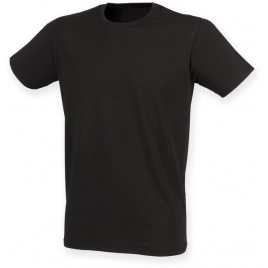 T-shirt homme extensible col rond