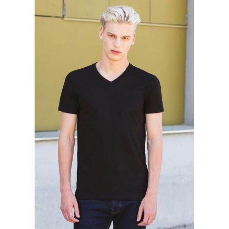 Feel good v t-shirt homme extensible col v