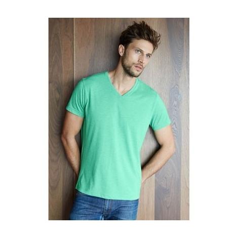 "T-shirt col V manches courtes ""mélange"""