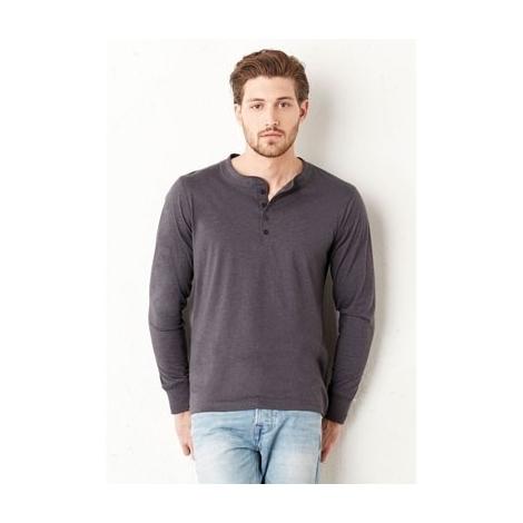 T-shirt henley manches longues  -  XXL