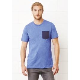 T-shirt poche poitrine contrastée - XXL