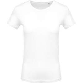 T-Shirt col rond manches courtes femme - Blanc