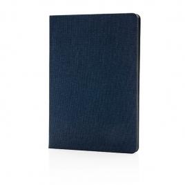 Carnet de notes B6 avec bord noir et finition tissu