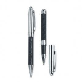 Set stylo bille et roller cuir