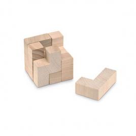 Puzzle en bois dans un sac