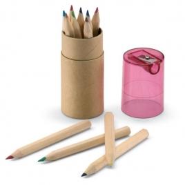 Tube 12 crayons de couleur