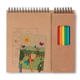 Set de coloriage avec bloc