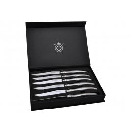 Set de 6 couteaux Laguiole table tout inox