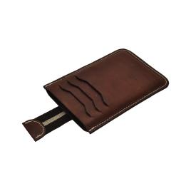 Etui / porte carte en cuir pour chargeur nomade