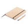Carnet de notes en liège avec stylo en bambou