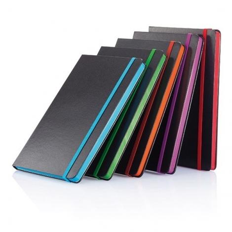 Carnet de notes A5 avec bord coloré