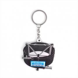 Porte-clés PVC souple 3D fond plat 40mm