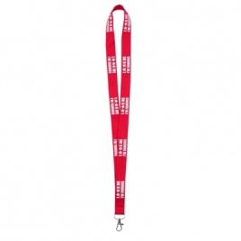 Lanyard marquage relief effet mousse 20mm
