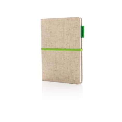 Carnet à couverture en jute et coton A5
