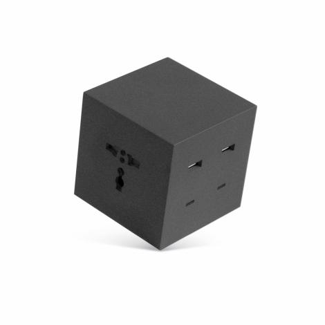 Power cube, 6 en 1, 4 ports USB et 2 prises universelles