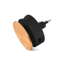 Compact Hub, 2 en 1, 2 ports USB, enrouleur et support de téléphone
