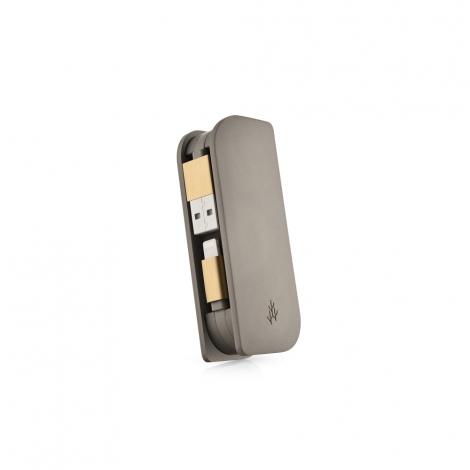 Batterie externe de poche avec 2 câbles intégrés - Apple