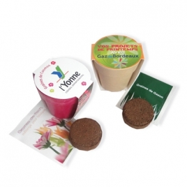 Kit de plantation Pot Bambou  Biodégradable  IDG50: