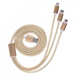 Câble USB 3 en 1