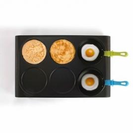 Set mini woks, crêpière et gril