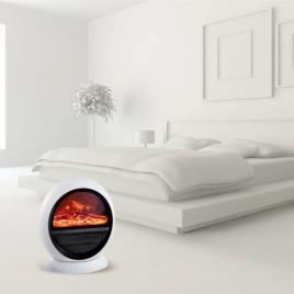 Chauffage céramique effet feu de bois