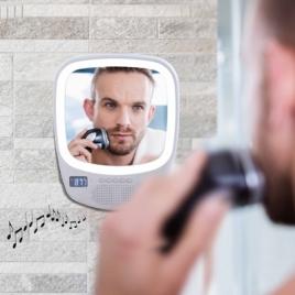 Miroir lumineux compatible Bluetooth®