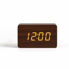 Horloge digitale aspect bois