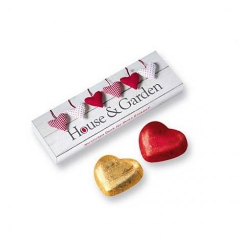 5 Cœurs de Lindt en boîte cadeau