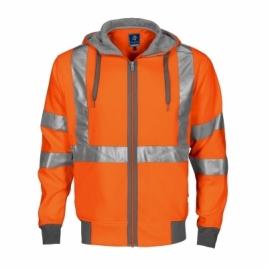 Veste zippée capuche HV top EN ISO 20471-class 3
