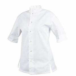 Veste de chef cuisinier 100% coton egyptien pour femmes lavable 85°
