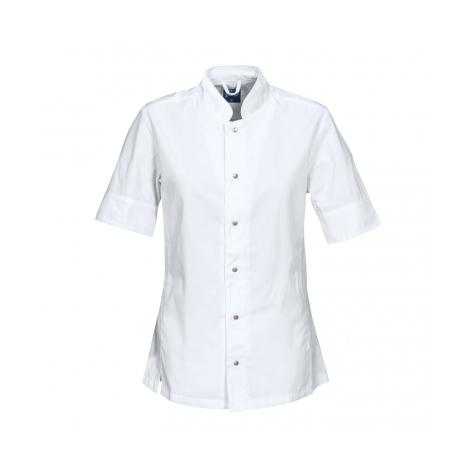 Veste de chef cuisinier pour femmes coupe ajustee lavage 85°