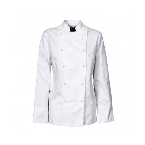 Veste de chef cuisinier femme avec boutons detachables